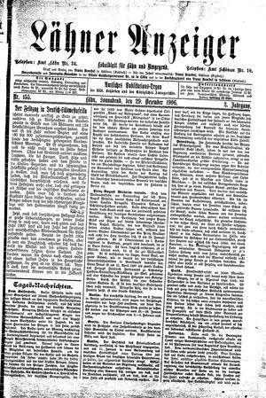 Lähner Anzeiger vom 29.12.1906