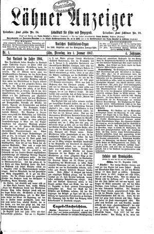 Lähner Anzeiger vom 01.01.1907