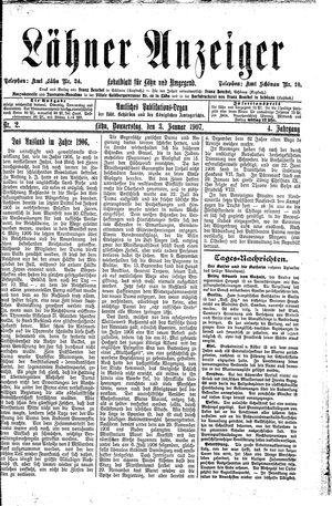Lähner Anzeiger vom 03.01.1907