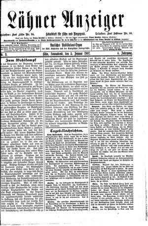 Lähner Anzeiger vom 05.01.1907