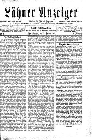 Lähner Anzeiger vom 08.01.1907