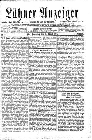 Lähner Anzeiger on Jan 10, 1907