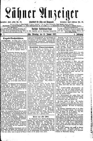 Lähner Anzeiger vom 15.01.1907