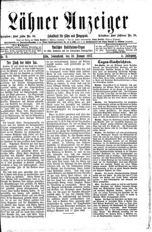 Lähner Anzeiger vom 19.01.1907