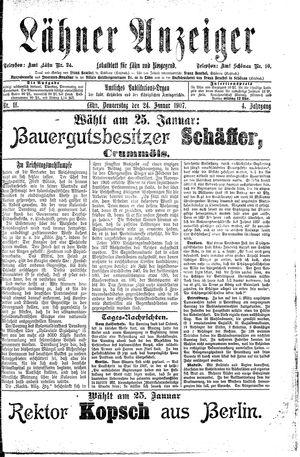 Lähner Anzeiger on Jan 24, 1907