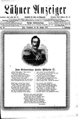Lähner Anzeiger on Jan 26, 1907