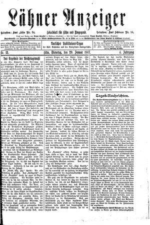 Lähner Anzeiger vom 29.01.1907