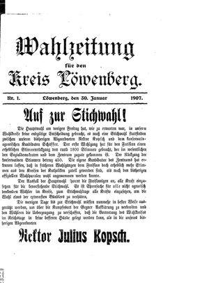 Lähner Anzeiger vom 30.01.1907