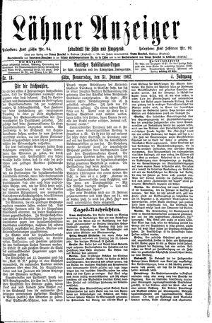 Lähner Anzeiger vom 31.01.1907