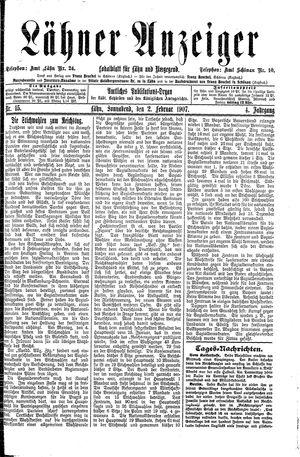Lähner Anzeiger vom 02.02.1907