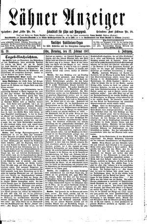 Lähner Anzeiger vom 12.02.1907