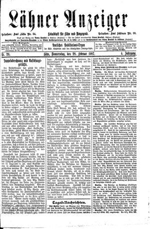 Lähner Anzeiger on Feb 28, 1907