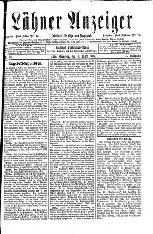 Lähner Anzeiger vom 05.03.1907