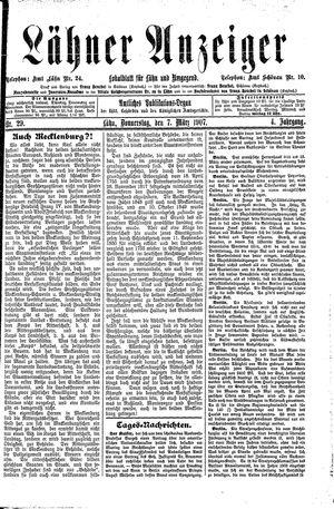 Lähner Anzeiger vom 07.03.1907
