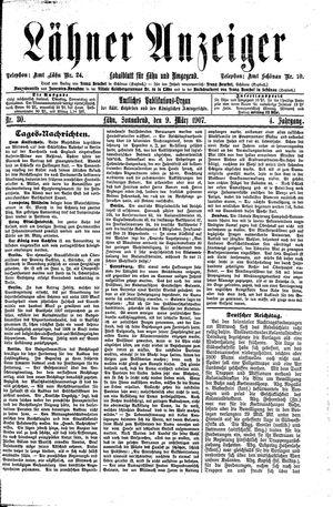 Lähner Anzeiger vom 09.03.1907