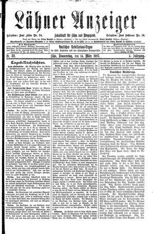 Lähner Anzeiger vom 14.03.1907