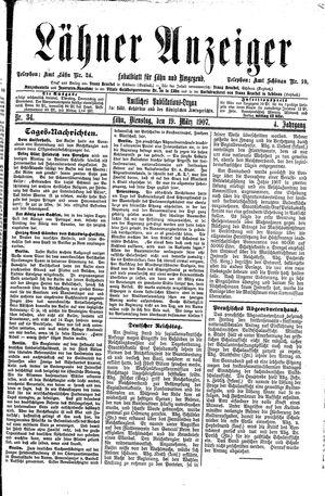Lähner Anzeiger vom 19.03.1907