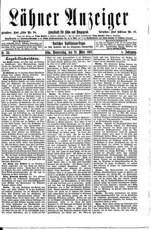 Lähner Anzeiger vom 21.03.1907