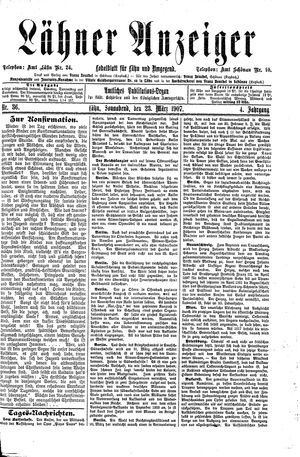 Lähner Anzeiger vom 23.03.1907