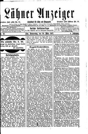 Lähner Anzeiger vom 28.03.1907