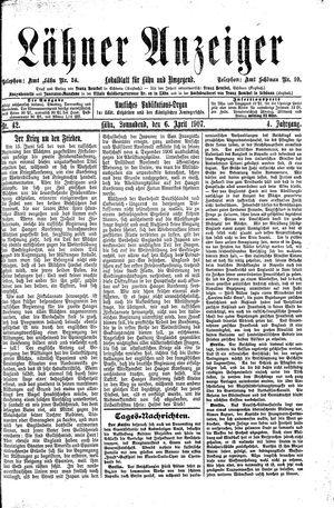 Lähner Anzeiger vom 06.04.1907