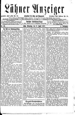 Lähner Anzeiger vom 09.04.1907