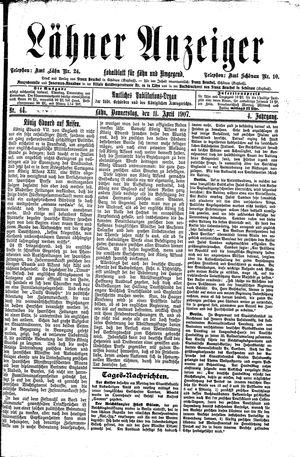 Lähner Anzeiger on Apr 11, 1907