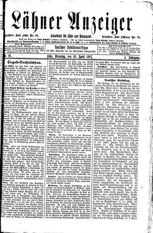 Lähner Anzeiger vom 16.04.1907