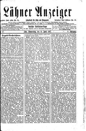 Lähner Anzeiger vom 18.04.1907