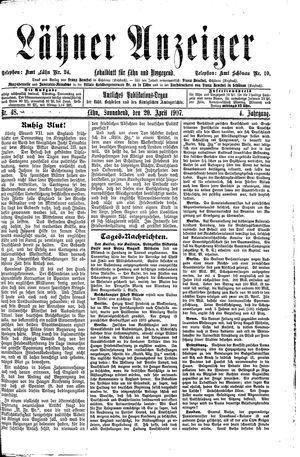 Lähner Anzeiger vom 20.04.1907