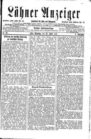 Lähner Anzeiger vom 23.04.1907