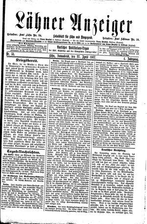Lähner Anzeiger vom 27.04.1907