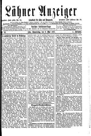 Lähner Anzeiger vom 02.05.1907