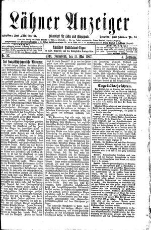 Lähner Anzeiger vom 11.05.1907
