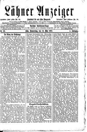 Lähner Anzeiger vom 16.05.1907