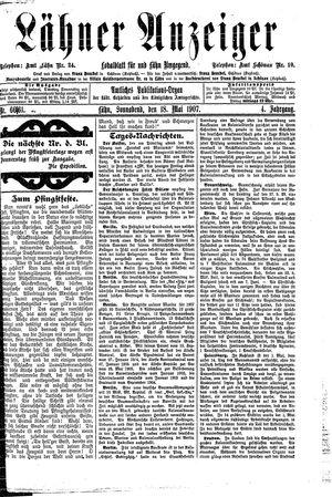 Lähner Anzeiger vom 18.05.1907
