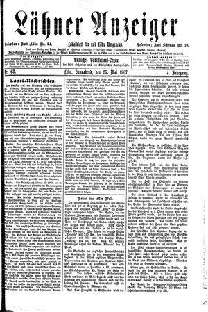 Lähner Anzeiger vom 25.05.1907
