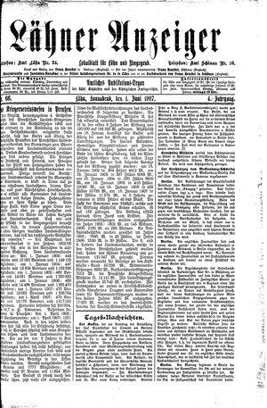 Lähner Anzeiger vom 01.06.1907
