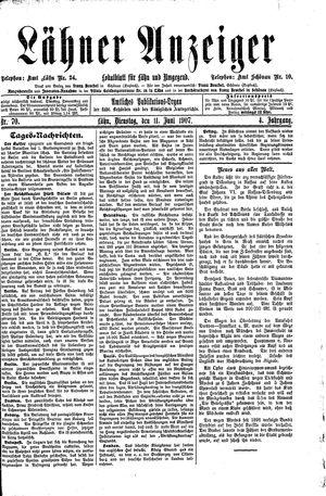 Lähner Anzeiger vom 11.06.1907