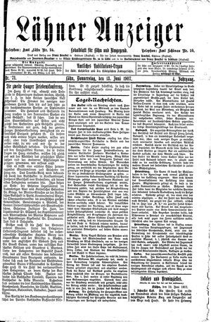 Lähner Anzeiger vom 13.06.1907