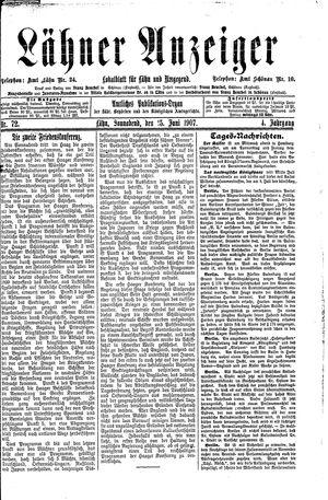 Lähner Anzeiger vom 15.06.1907