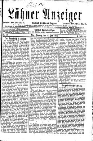 Lähner Anzeiger on Jun 18, 1907