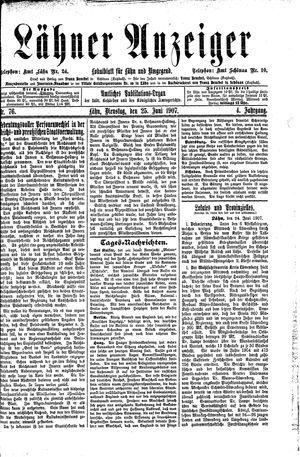 Lähner Anzeiger vom 25.06.1907