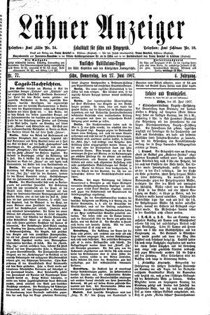 Lähner Anzeiger vom 27.06.1907