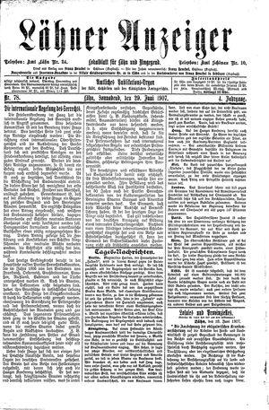 Lähner Anzeiger on Jun 29, 1907
