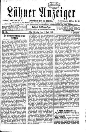 Lähner Anzeiger vom 02.07.1907