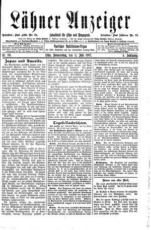 Lähner Anzeiger vom 11.07.1907