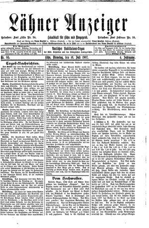 Lähner Anzeiger vom 16.07.1907