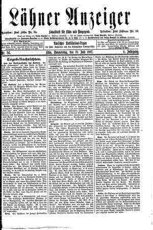 Lähner Anzeiger vom 18.07.1907