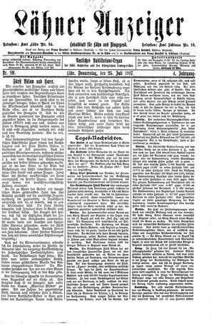 Lähner Anzeiger vom 25.07.1907